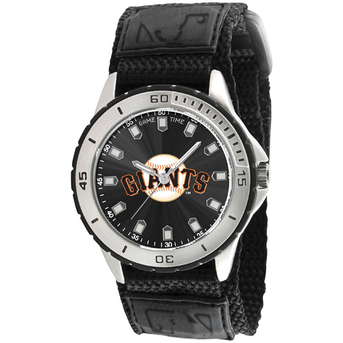 Game Time MLB Men's San Francisco Giants Veteran Series Watch, Black Velcro Strap