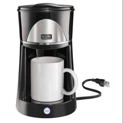 ANDIS ADC-2 Coffee Maker, 1 Cup, Black, 500 Watts