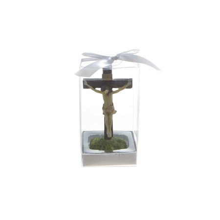 Mega Favors Keepsake Figurine 12 pcs Jesus Crucifixion on Cross | Awesome Decorations or Party Favors | for Baptism, First Communion, Religious and Special Celebrations](Baptism Party)