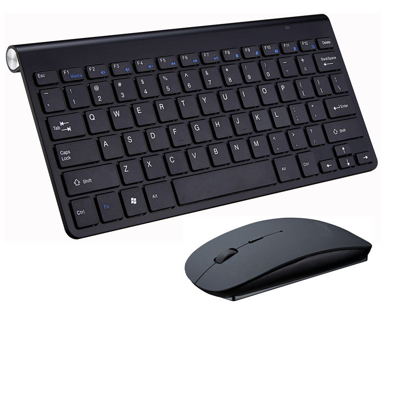 2.4G Wireless Keyboard and Mouse Mini Multimedia Keyboard Mouse Set Compatible for Notebook Laptop Mac Desktop PC TV Office Supplies