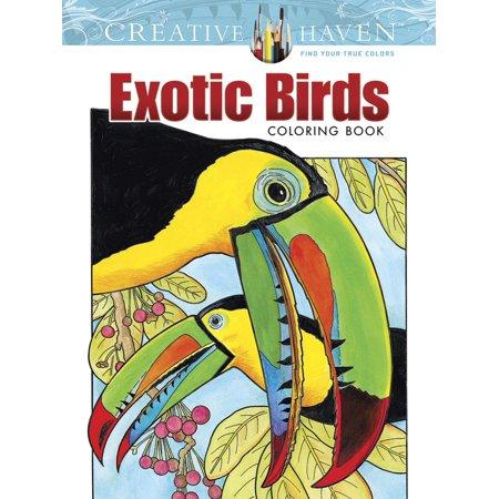 Creative Haven Coloring Books Creative Haven Exotic Birds