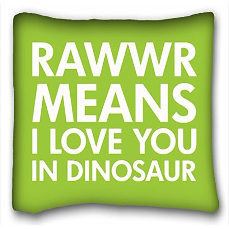 9a973437a WinHome Wet Rawr Means I Love You In Dinosaur Pillowcase Throw Pillow Case  Cases Cover Cushion Covers Kids Sofa Size 18x18 Inches Two Side -  Walmart.com