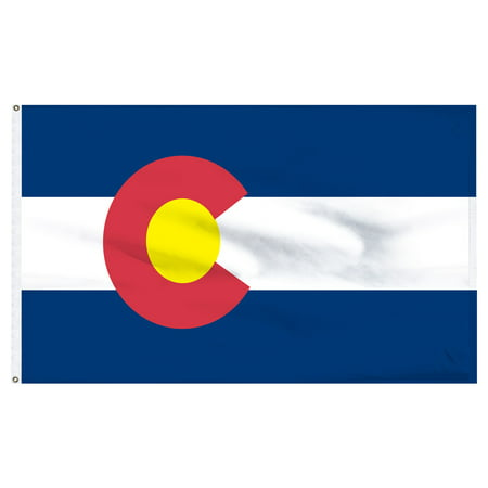 Colorado 3x5ft Nylon Flag with Pole Hem Only - Banner