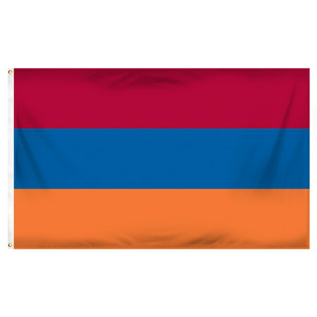 Armenia Flag Stickers (Armenia 3ft x 5ft Printed Polyester Flag)