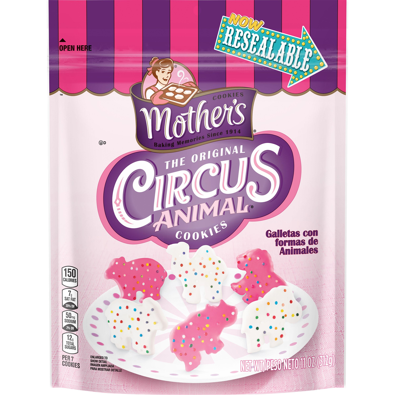 Mother's The Original Circus Animal Resealable Snack Cookies 11 oz Bag