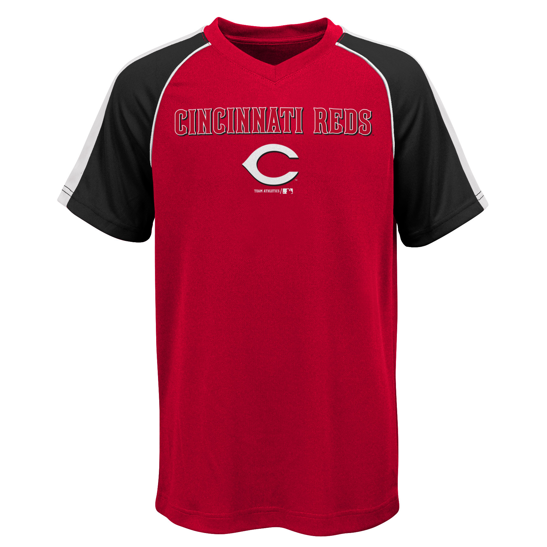 MLB Cincinnati REDS TEE Short Sleeve Boys Fashion Jersey Tee 100% Polyester Pin Dot Mesh Jersey Team Tee 4-18