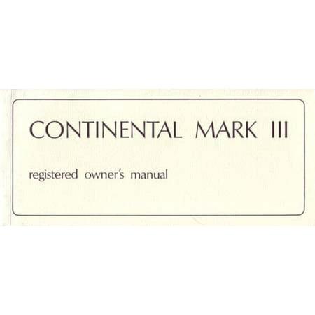 - Bishko OEM Maintenance Owner's Manual Bound for Lincoln Mark IIi 1969