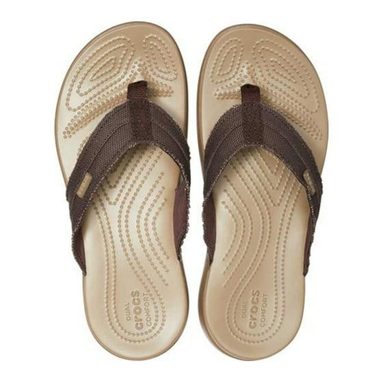 17601ab8a41e Crocs - Crocs Men s Santa Cruz Canvas Flip Flop - Walmart.com