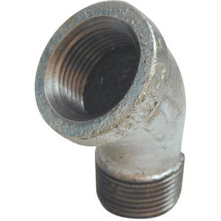 0 12 in 45 Deg Galvanized Street Elbow