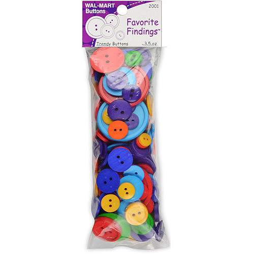 Favorite Findings Value Pack of Buttons, 3.5 Ounces