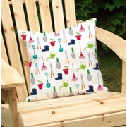 Checkerboard, Ltd Mary, Mary Outdoor Throw Pillow