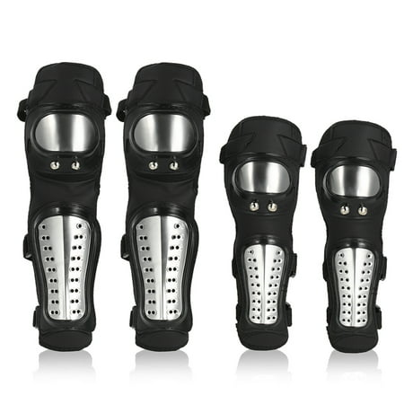 Elbow Knee Shin Guard Pads 4Pcs Kit Breathable Adjustable Knee Cap Pads Protector Elbow Armor for Motorcycle Motocross Racing - image 1 of 7
