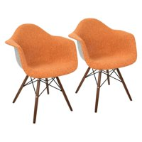 LumiSource Neo Flair Duo Mid-Century Modern Accent Chair - Set of 2