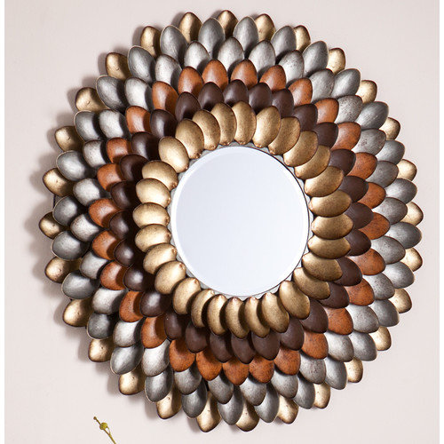 Wildon Home  Abrams Decorative Round Wall Mirror
