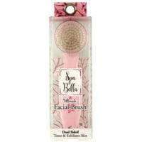 2 Pack - Spa Bella Facial Brush Dual Sided,  1 ea