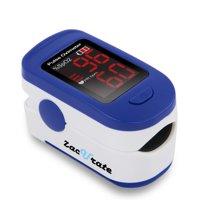 Zacurate Fingertip Pulse Oximeter, Batteries & Lanyard (Navy Blue)