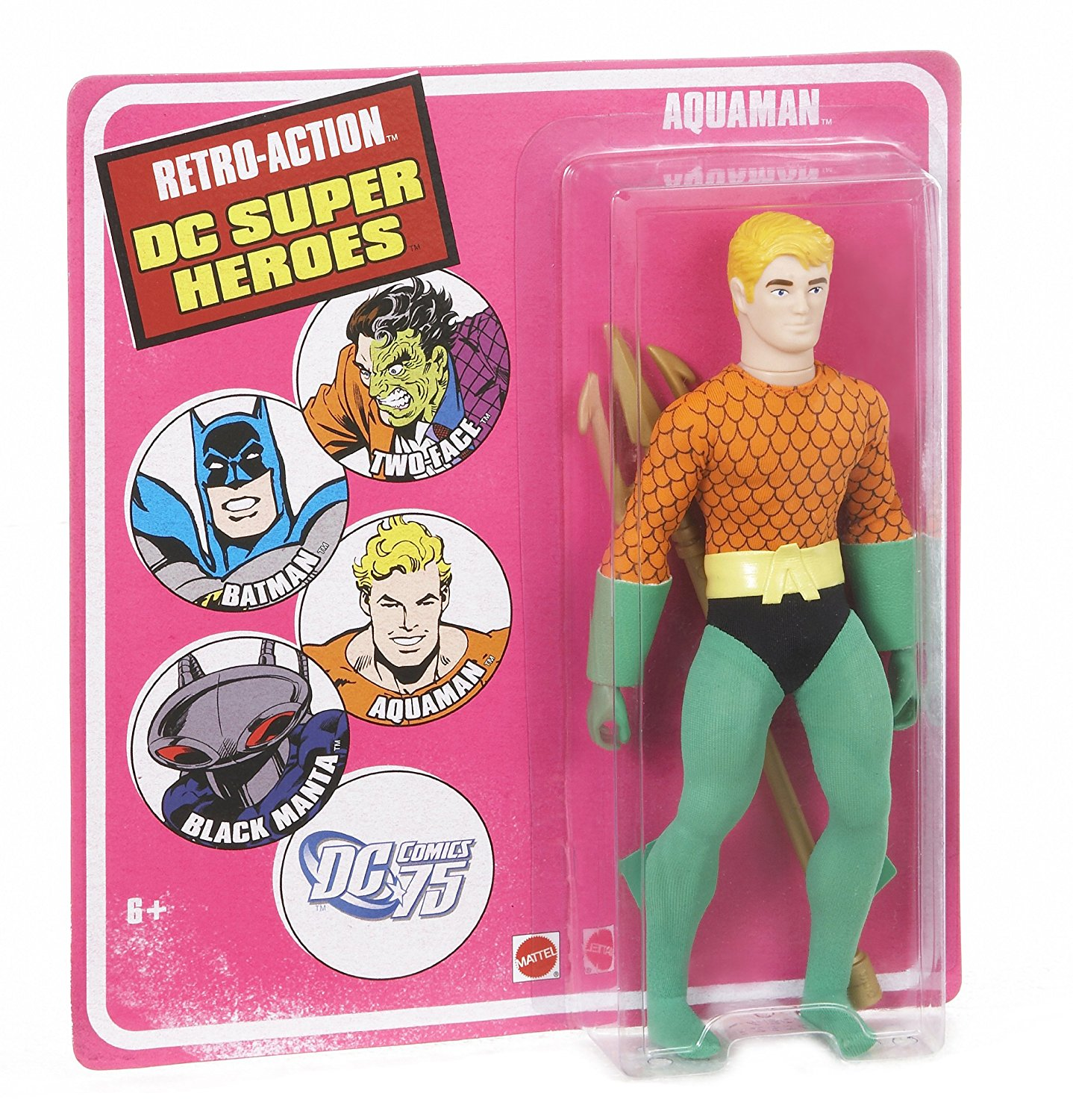 Retro-Action DC Super Heroes Aquaman Figure, Celebrate DC Comics 75th Anniversary By... by
