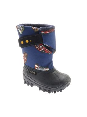 c59877b1f577 Product Image Boy s Teddy Snowboot. Product Variants Selector. Black Lime  Navy