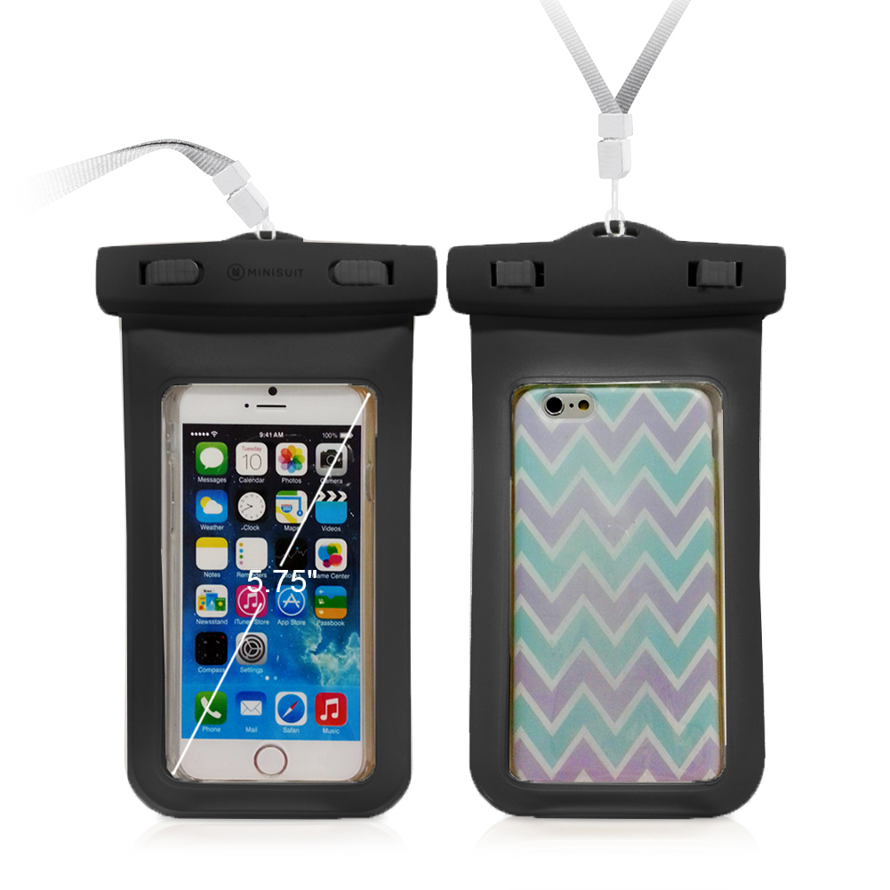 Universal Waterproof Carrying Bag Case Pouch for Cell Phone iPhone 6 6S 6S Plus, Galaxy S6 S5 S4 S3 S2, Note 3 2 1, HTC, Motorola, Nokia, Sony and more - Certified to 100 Feet