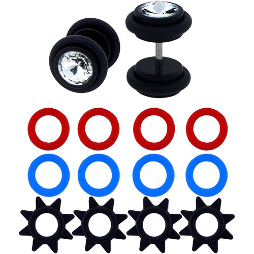 Body Magic Jeweled Illusion Plugs with Interchangeable O-Rings Set
