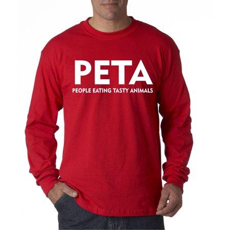 608 - Unisex Long-Sleeve T-Shirt Peta People Eating Tasty Animals