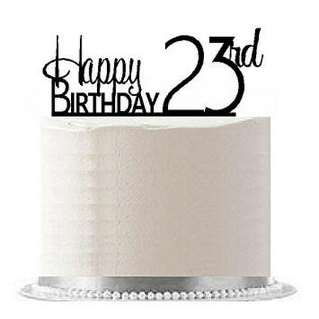 Item#AE-126 Happy 23rd Birthday Agemilestone Elegant Cake Topper](Happy 23rd Birthday)