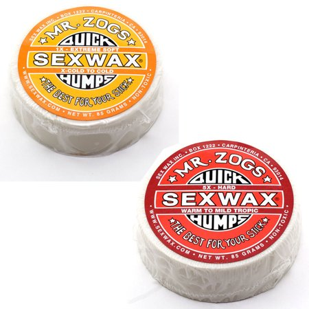 Sex Wax Quick Humps Surf Wax Pack Of 2  1X And 5X Mr  Zogs