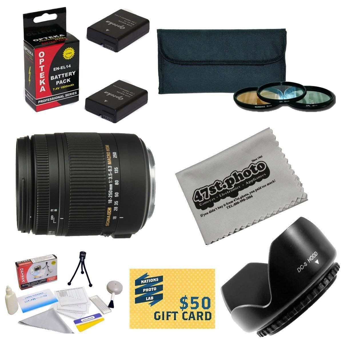 Sigma Super Zoom 18-250mm f 3.5-6.3 DC Macro OS HSM (Optical Stabilizer) 883-306 Lens For the Nikon D3100,... by Sigma
