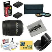 Sigma Super Zoom 18-250mm f/3.5-6.3 DC Macro OS HSM (Optical Stabilizer) 883-306 Lens For the Nikon D3100, D3200, D3300, D5100, D5200, D5300 - Includes 3 Piece 62mm Pro Filter Kit (UV, CPL, FLD Lens)