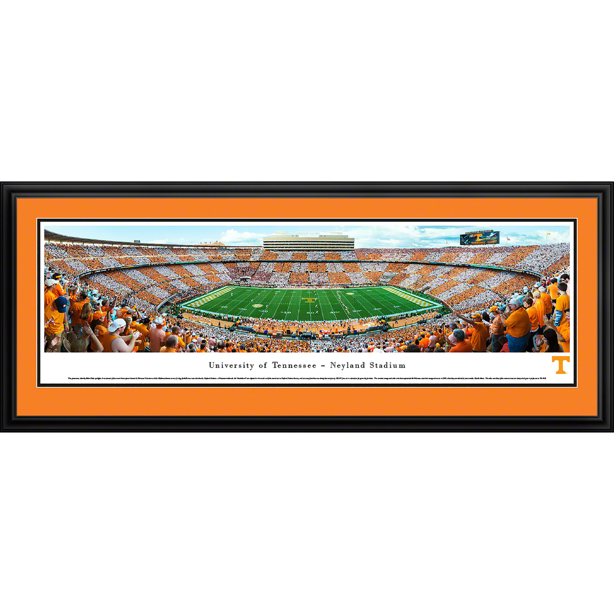 Tennessee Volunteers Football Checkerboard Stadium Blakeway Panoramas Ncaa College Print With Deluxe Frame And Double Mat Walmart Com Walmart Com
