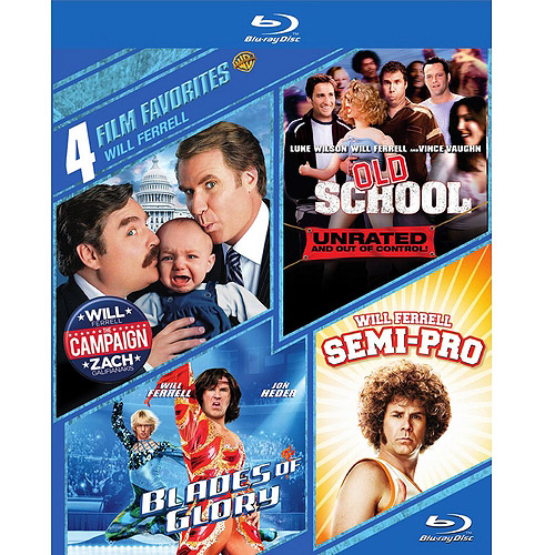 4 Film Favorites: Will Ferrell - The Campaign / Old School / Blades Of Glory / Semi-Pro (Blu-ray)