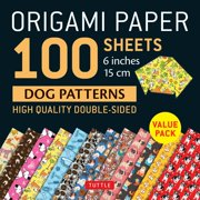 "Origami Paper 100 Sheets Dog Patterns 6"" (15 CM) : Tuttle Origami Paper: High-Quality Double-Sided Origami Sheets Printed with 12 Different Patterns: Instructions for 6 Projects Included"