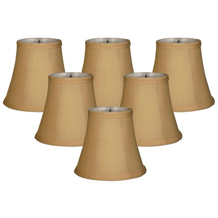 Fabric Chandelier Lamp - Royal Designs  Gold Fabric Chandelier Lampshades (Pack of 6)