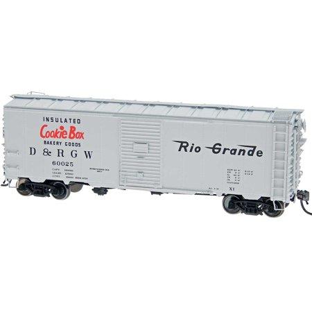 InterMountain HO-Scale 40ft 12-Panel Box Car - Rio Grande/D&RGW - Cookie Box
