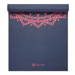 Gaiam Print Yoga Mat, Pink Marrakesh, 4mm
