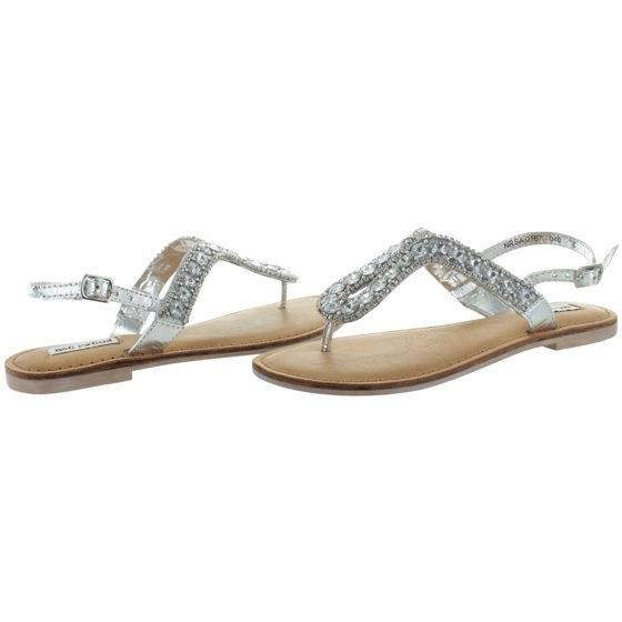 325291a33dfb Not Rated - Not Rated Dragonfly Women s Rhinestone Jeweled Thong Sandals  Open Toe - Walmart.com