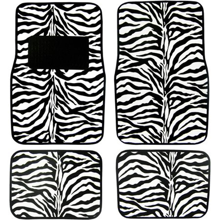 Plasticolor Zebra Wild Skins Floor Mat Set 4pc Walmart Com