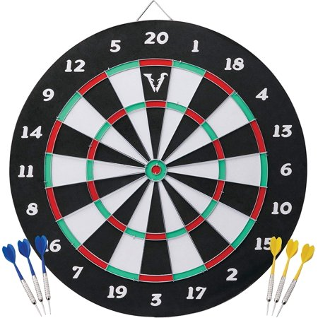 Viper Double Play 2-in-1 Baseball Dartboard with Darts, Tournament quality regulation 18U diameter accommodates both steel tip and soft tip darts By Viper by GLD Products