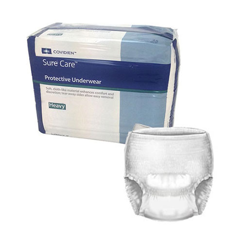 "Sure care protective underwear x-large 48"" - 66"" part no. 1625r (25/package)"