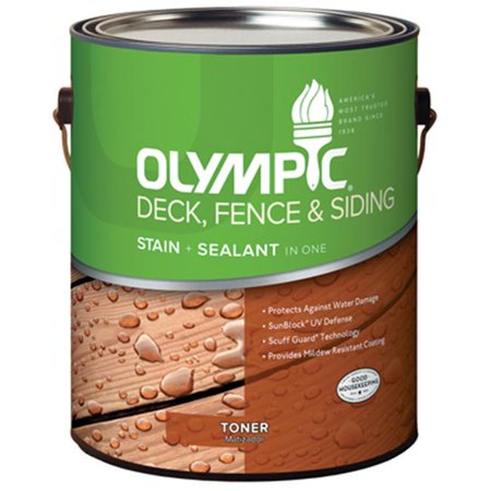Olympic 59003A-01 Gallon Cedar, Acrylic Oil Fence & Siding Stain & Sealant In One Toner ()