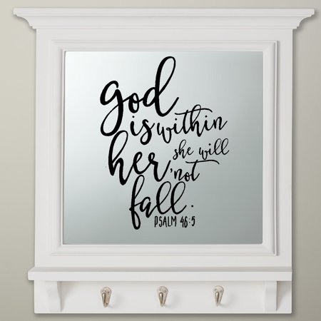 (Decal ~ Scripture: God is within her she will not fall: Psalm 46:5 ~ Wall Decal 13