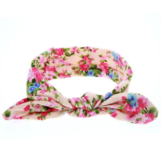 Iuhan Baby Rabbit Ears Elastic Flowers Bowknot Headband YE