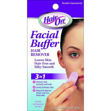Hair Off Facial Buffer (Hair off facial buffer, 3 ct)