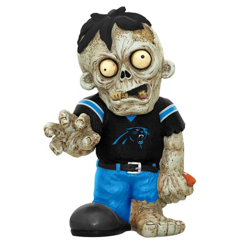 Forever Collectibles NFL Resin Zombie Figurine, Carolina Panthers