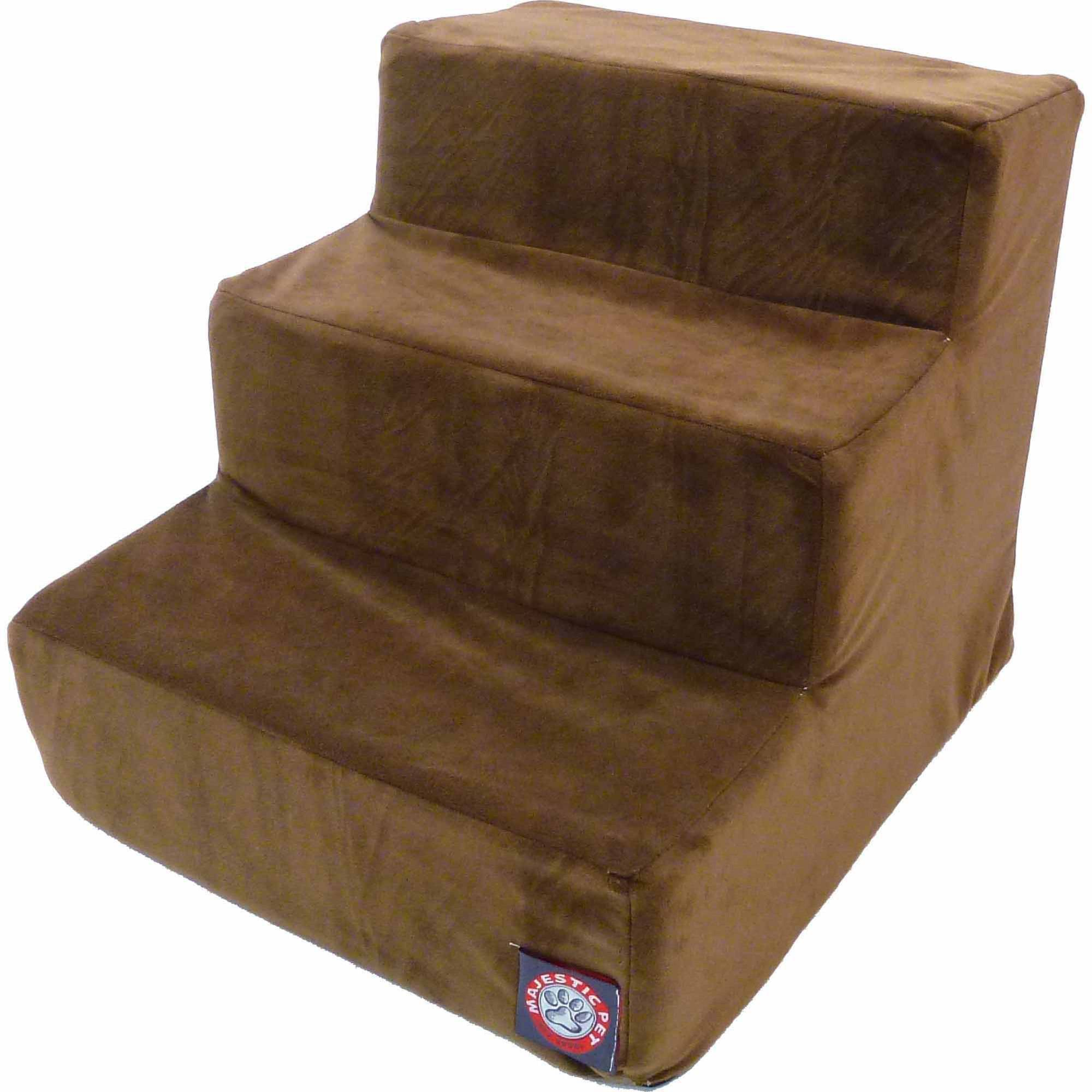 Majestic Pet Products 3 Step Suede Pet Stairs