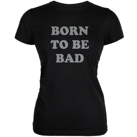 Born To Be Bad Inspired By Joan Jett Black Juniors Soft T-Shirt