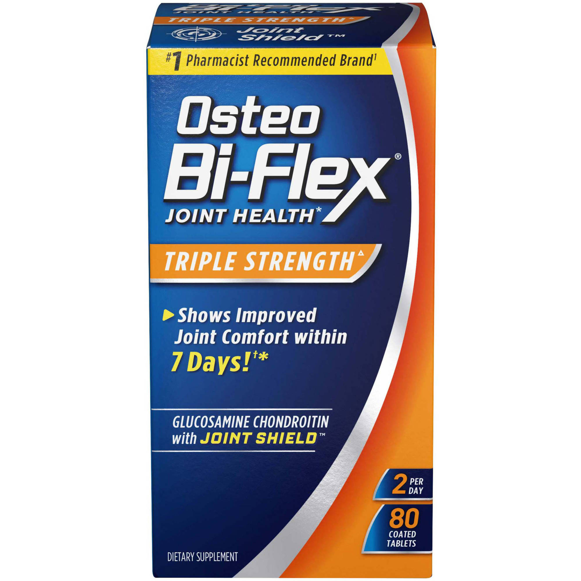 Osteo Bi-flex Dietary Supplement Glucosamine Chondroitin Msm With Joint Shield 80 ct