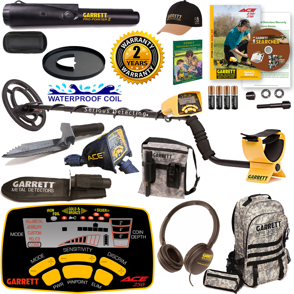 Garrett ACE 250 Detector Adventure Fall Special with Pro-...