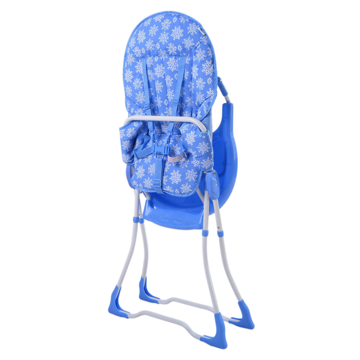 GHP 33-Lbs Capacity Blue Portable Folding Feeding Booster Seat Toddler High Chair
