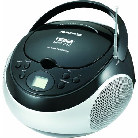 Naxa NAXNPB252BKB NAXA Electronics Portable MP3/CD Player with AM/FM Stereo